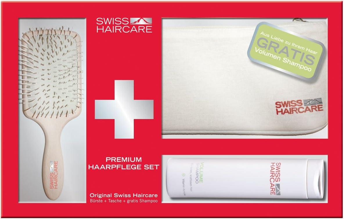 Swiss haircare Paddle + Volume Champú + Funda