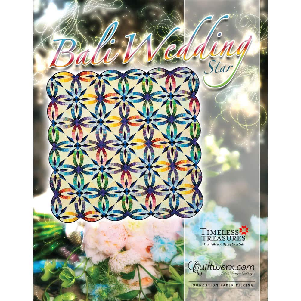 Bali Wedding Star Quilt Pattern by Quiltworx BCAC34102