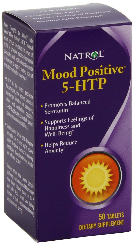 Natrol 5-HTP Mood Positive Tablets, 50-Count , Pack of 4 Natrol-ljr8