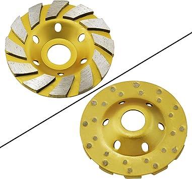 4 1//2 115mm PREMIUM Grade Double Row Concrete Diamond Grinding Cup Wheel