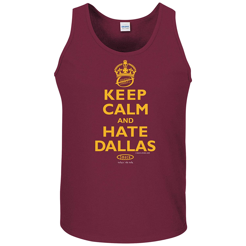 Smack Apparel Washington Football Fans Keep Calm and Hate Dallas Maroon T-Shirt Sm-5X