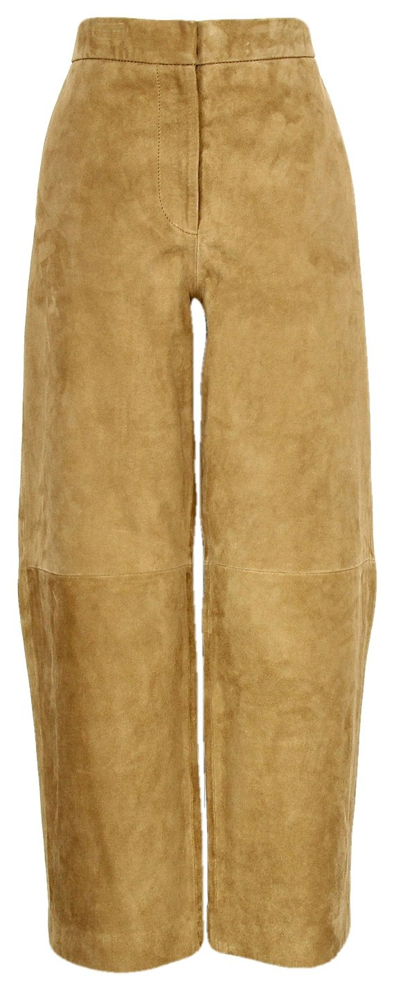 J Crew Collection Suede Patio Pant Style# E4583 Camel New Size 12