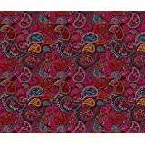 Paisley Fabric - Oriental Arabic India Paisley by littlesmilemakers - Paisley Fabric with Spoonflower - Printed on Linen Cotton Canvas Fabric by the Yard