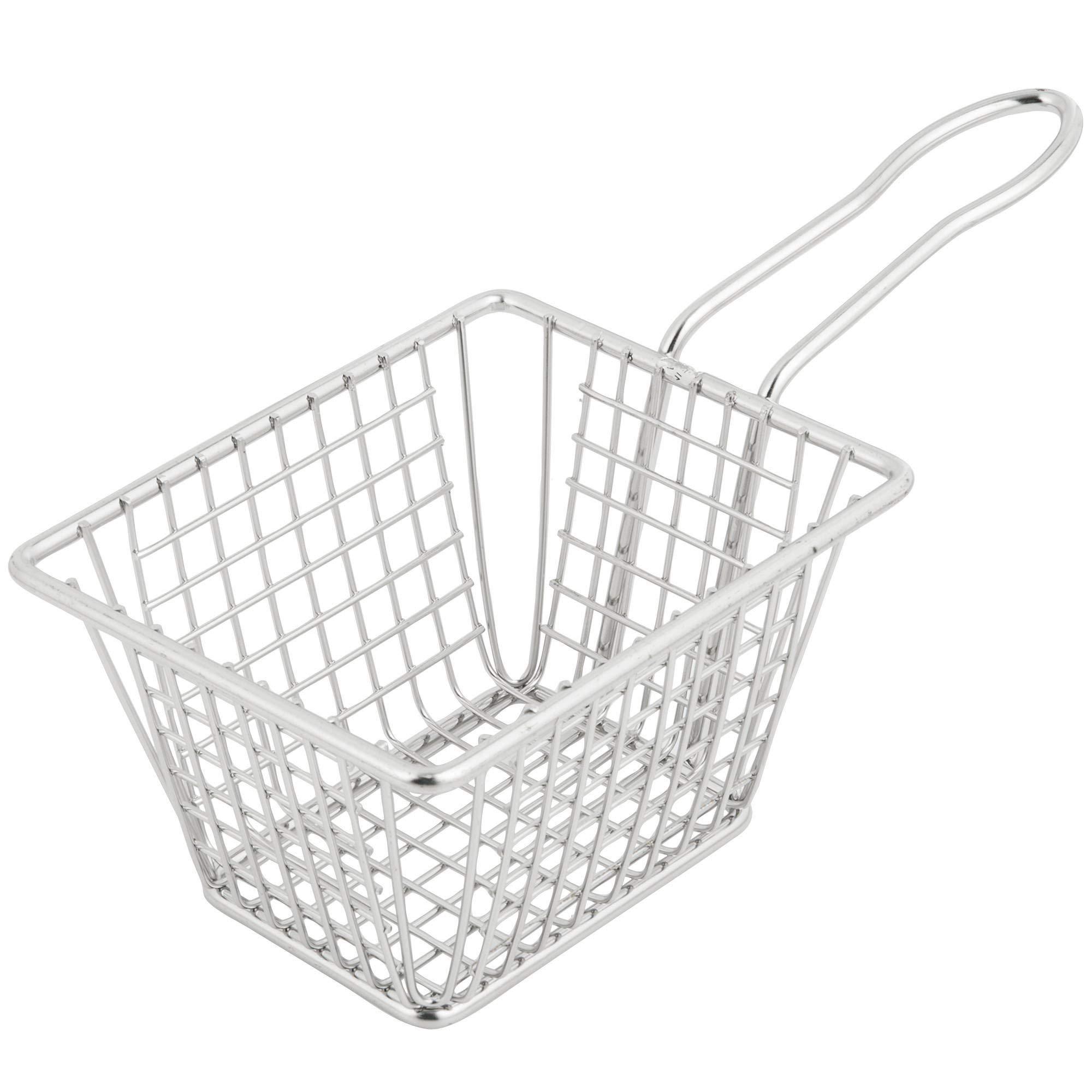 TableTop King 5'' x 4'' x 3'' Rectangular Stainless Steel Mini Fry Basket