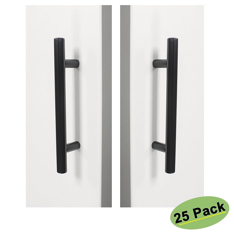homdiy Black Cabinet Pulls 25 Pack 3.75in(96mm) Cabinet Handles - HD201BK Matte Black Drawer Pulls Kitchen Cabinet Hardware Black Cabinet Handles for Bathroom, Closet, Wardrobe, Laundry