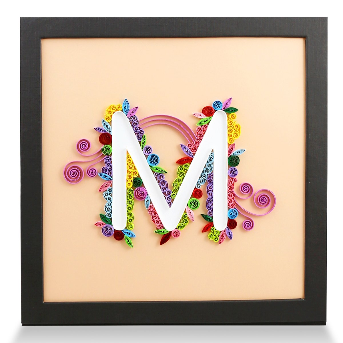 Amazon.com: PaperTalk LETTER M 100% Handmade Paper-Quilling Artwork ...