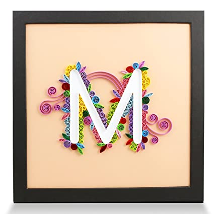 Amazon Com Papertalk Letter M Handmade Birthday Personalized Gifts