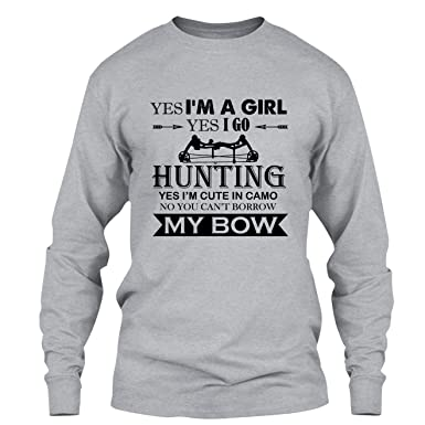 65f9e0845 Elido Store Bow Hunting T Shirt - Bow Hunting Girl Cool T Shirts Design  Long Sleeve