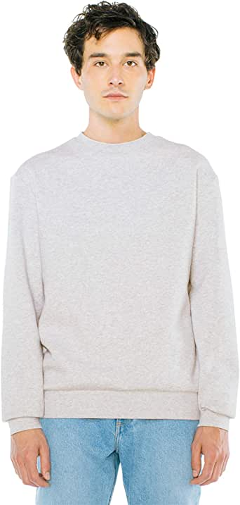 American Apparel Men's Peppered Fleece Long Sleeve Pullover Crewneck