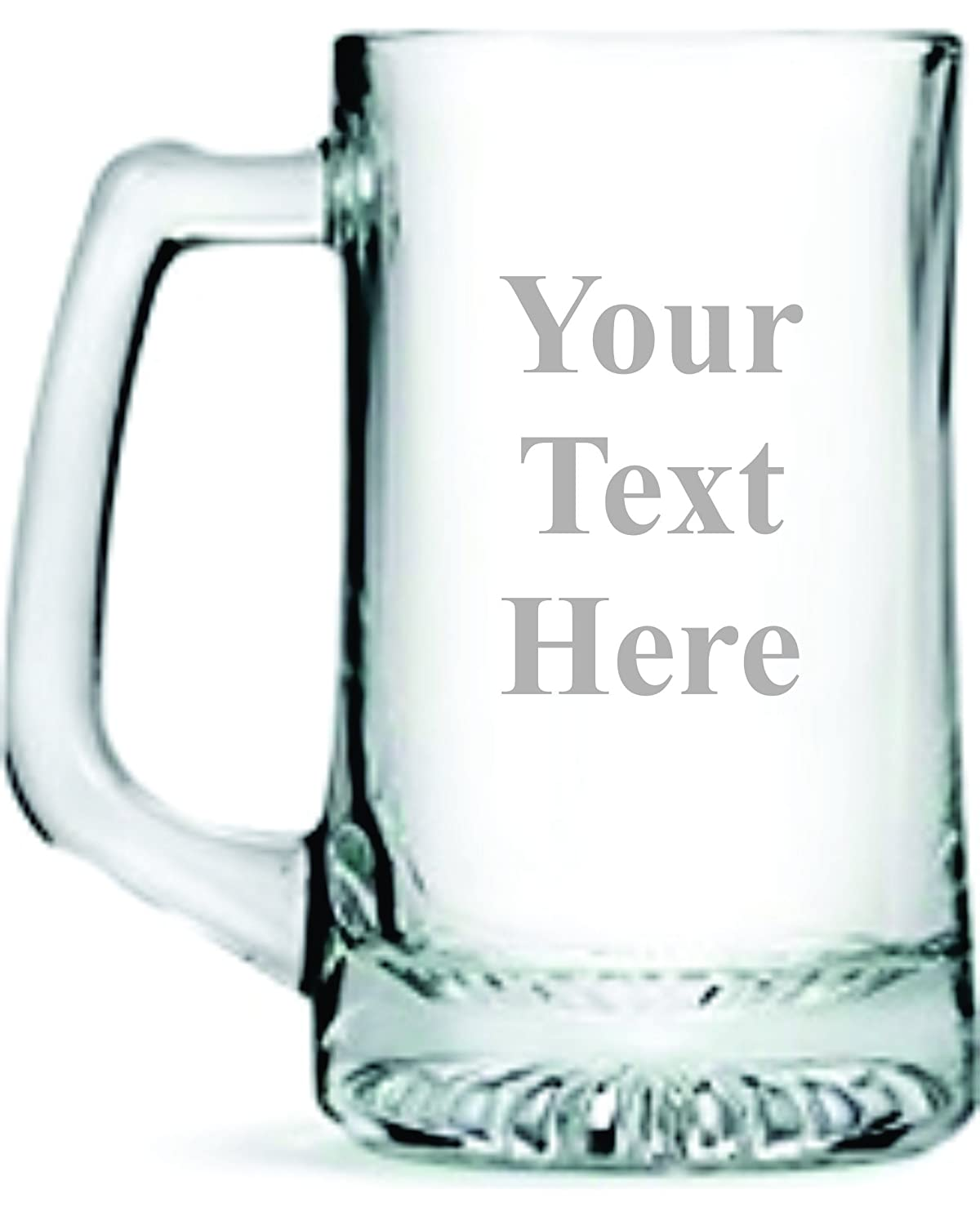 Custom Etched 25 oz Beer Mug, you choose your text and font