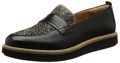Clarks Glick Avalee, Mocasines para Mujer, Negro (Blk Interest Lea), 36 EU: Amazon.es: Zapatos y complementos