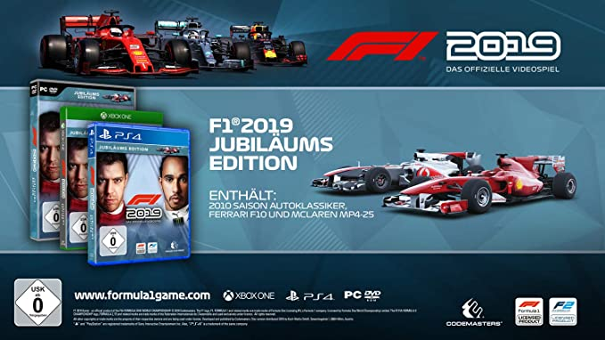 F1 2019 Jubiläums Edition (XBox ONE): Amazon.es: Electrónica
