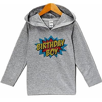 7 ate 9 Apparel Kid's Super Hero Birthday Hoodie