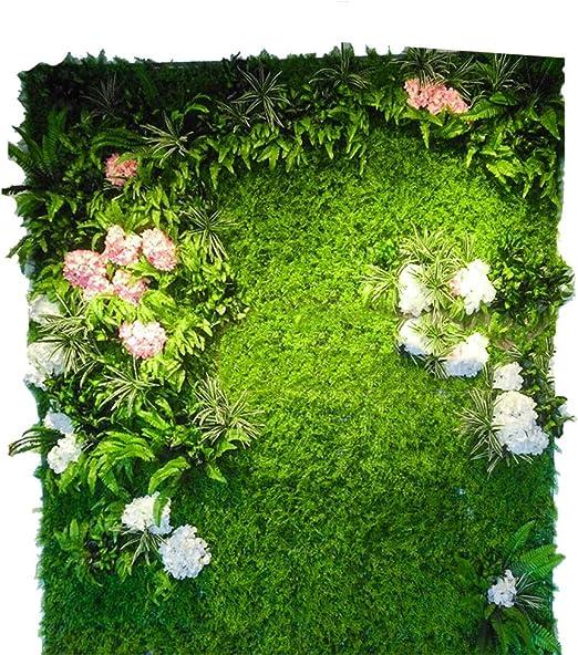 LVZAIXI Decoración De Telón De Fondo Retrato De Seto Artificial Fondo De La Pared De La Planta Recién Nacida césped for Patio De Jardín (Color : D, Size : 100x100cm): Amazon.es: Hogar