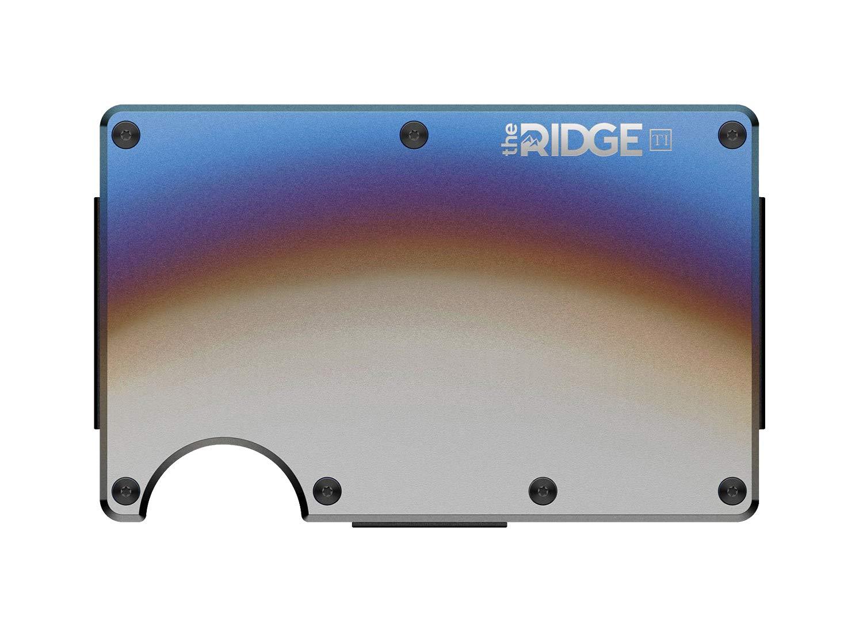 RFID Bloqueo Garantizado Clonaci/ón Chips Digitales Correa Sujeci/ón Billetes Integrada Cartera Tarjetero Met/álica Titanio Uso Militar Color Titanium Burnt