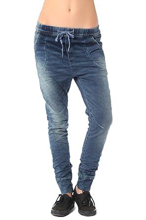 Q2 Mujer Pantalones de chándal de Efecto Vaquero con Cordon ...