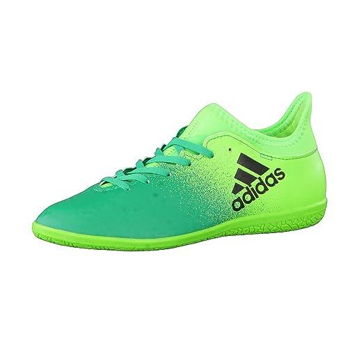 adidas X 16.3 IN Niño, Zapatilla de fútbol Sala, Solar Green-Core Black-Core Green: Amazon.es: Deportes y aire libre