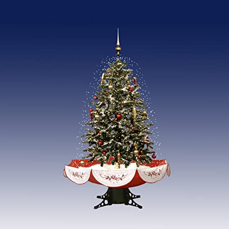 christmas concepts 140cm green tree with red umbrella base white tree skirt and red
