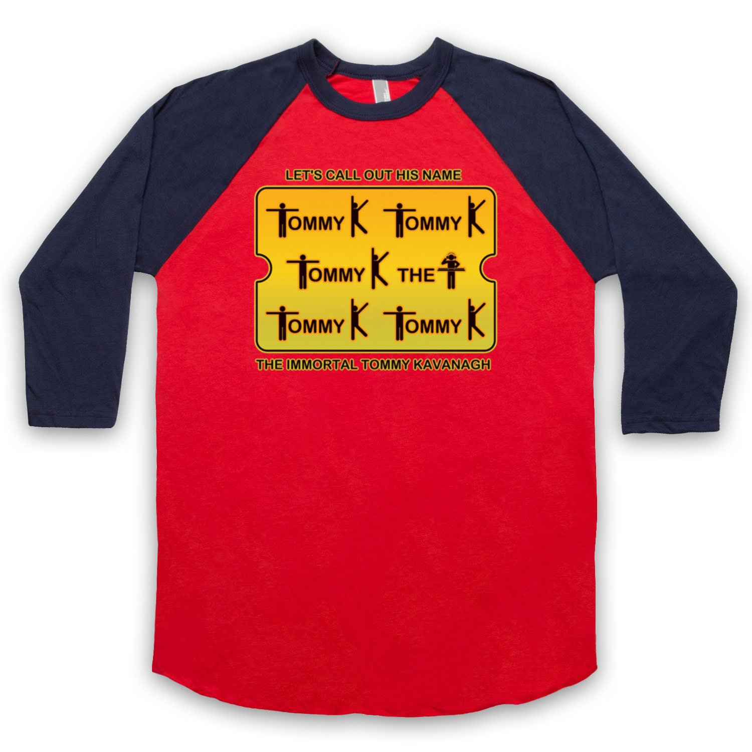 Inspired by Saw Doctors Tommy K Unofficial 3/4 Sleeve Retro Baseball Tee