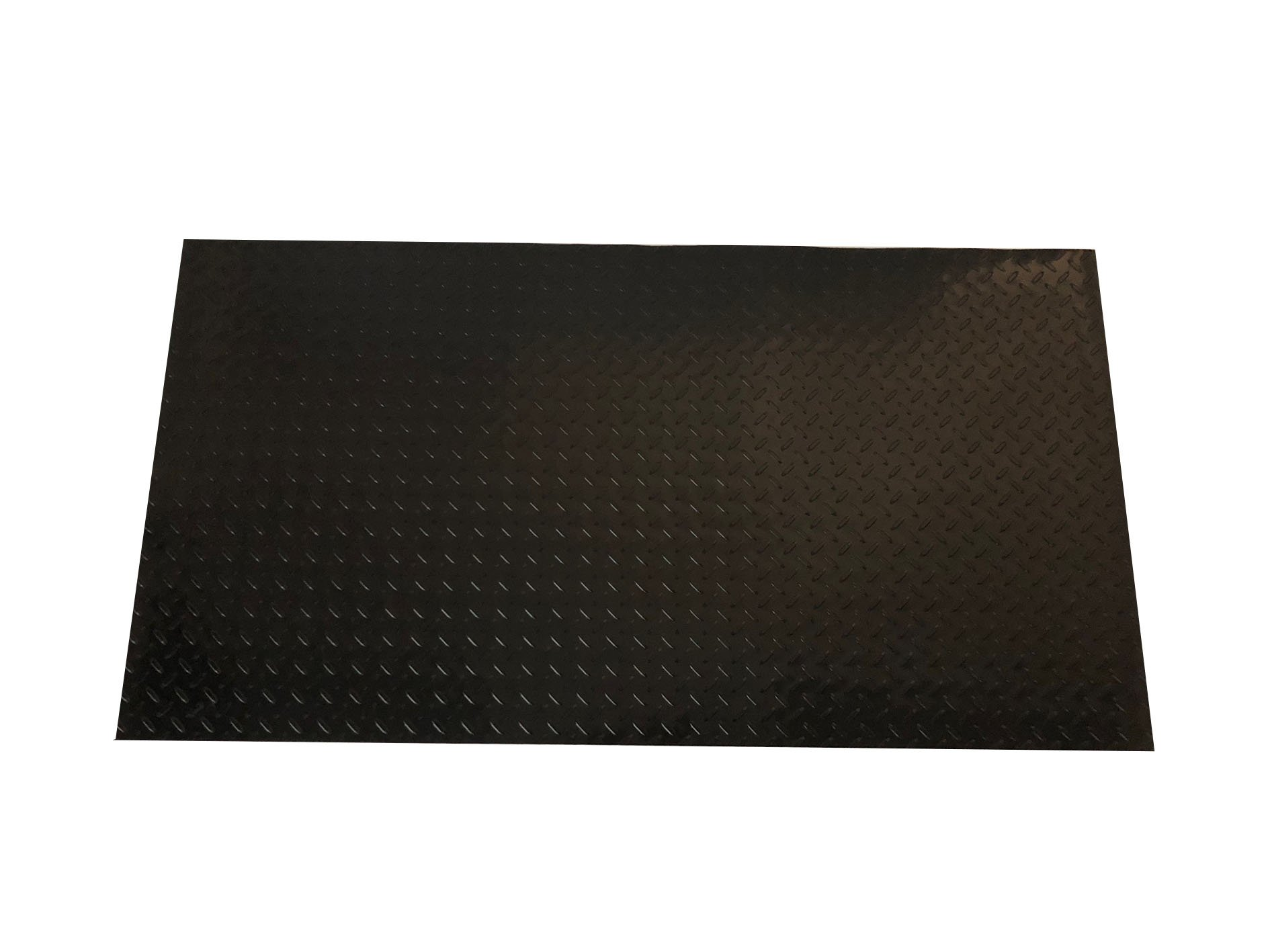 Resilia Diamond Plate Under Sink Mat, 2' x 4', Black