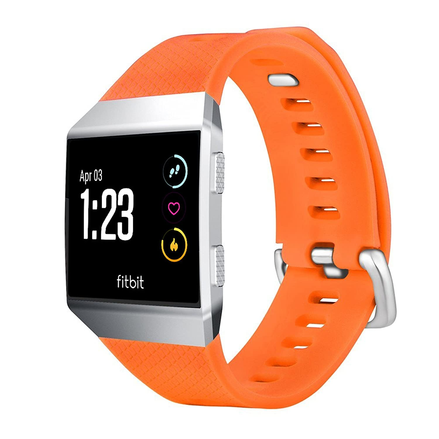 Tuff Luv Replacement Adjustable Silicone Strap Bracelet Wrist Band for Fitbit Ionic - Orange (Small) I14_70_5055261845407