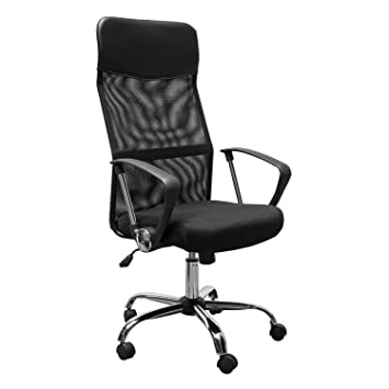 ergonomic mesh office desk chair with adjustable arms. homcom swivel executive office chair high back mesh seat desk chairs height adjustable armchair ergonomic with arms c