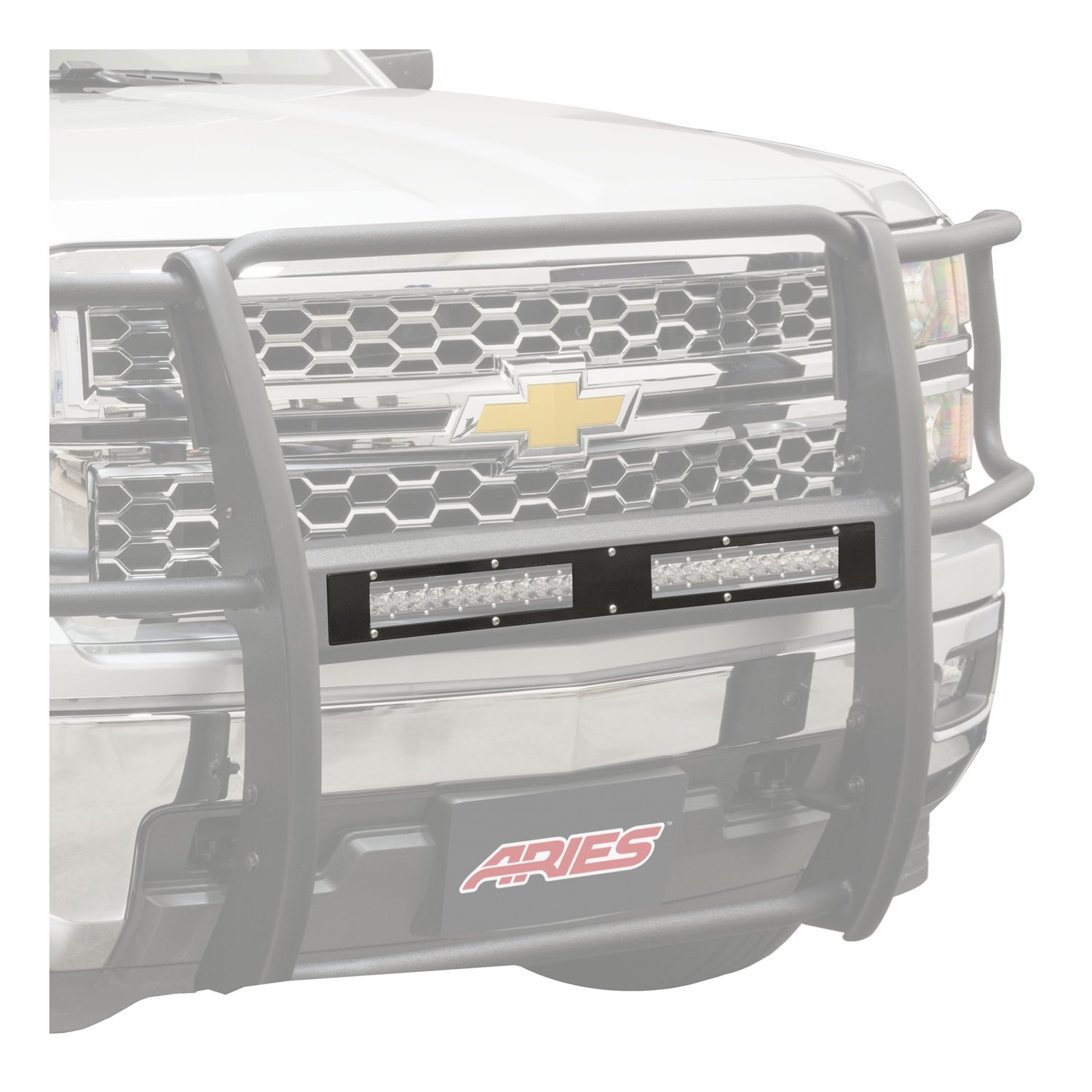 ARIES PC10OB Pro Series Jeep 10 Semi-Gloss Black Steel Grille Guard Cover Plate