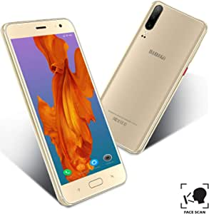 Moviles Libres Baratosde 5.5Pulgadas 4G Teléfono Móvil Libre16GB ROM Android 9.0 Quad-Core Smartphone Libres Barats 4800mAh Batería Moviles Barats y Buenos Dual SIM 8MP Cámara (Oro): Amazon.es: Electrónica
