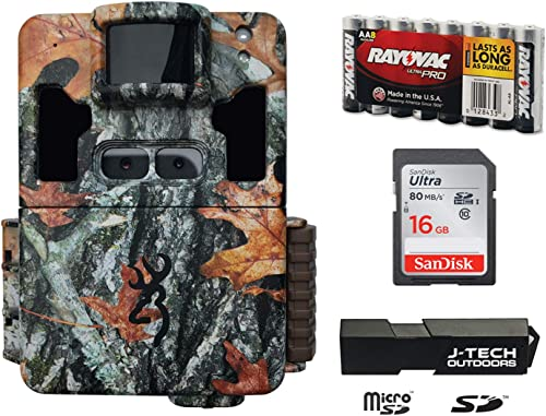 Browning Dark OPS PRO XD Dual Lens Trail Game Camera Complete Plus Package Includes 16GB Card and J-TECH Card Reader 24MP BTC6PXD