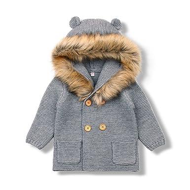 dedf19056 mimixiong Baby Cardigan Sweater Cartoon Hoodies Long Sleeve Coats:  Amazon.co.uk: Clothing
