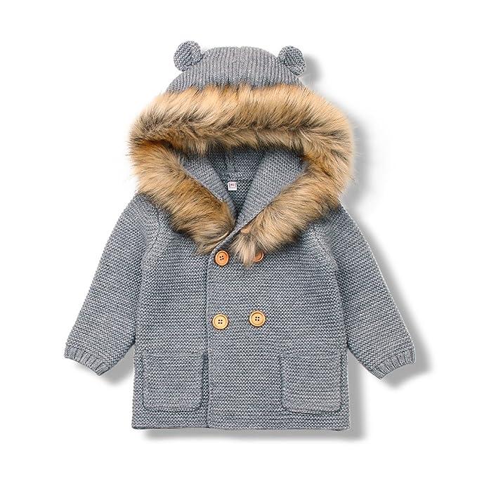 MiMiXiong Cárdigan Suéter de Punto para Bebés Chaquetas y Abrigos Ropa de Tejer