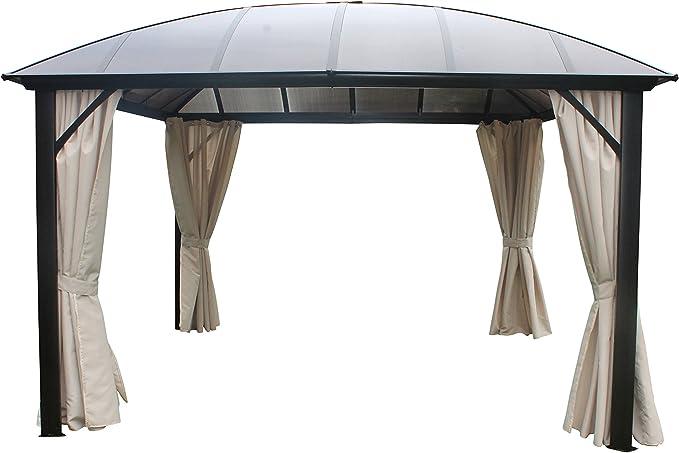 Leco 13920103 - Pabellón/cenador para Exteriores con Techo de cúpula, 365 x 365 cm: Amazon.es: Jardín