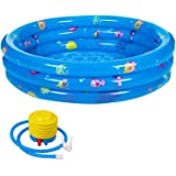 Raoccuy Round Inflatable Outdoor Kids Swimming 60Inch Garden Inflatable Baby Swimming Pool, Portable Inflatable Child…