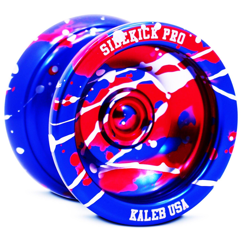 Sidekick Yoyo Pro Blue Red Silver Splashes Professional Aluminum UNresponsive YoYo