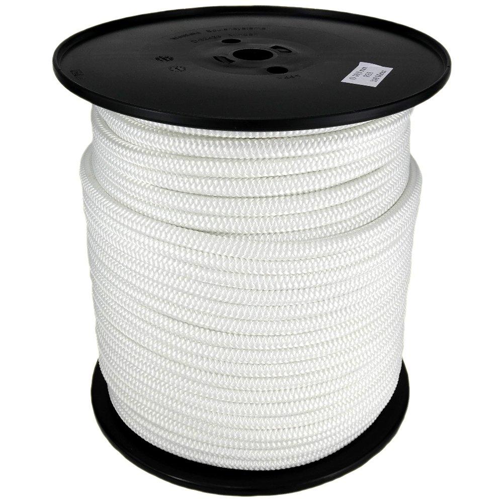 Polyesterseil Seil Polyester 4mm 100m Wei/ß Geflochten