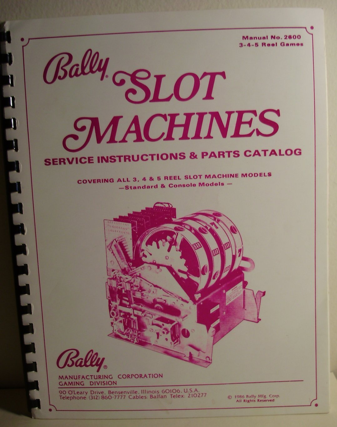 new photos good the cheapest Bally Slot Machines Manual No. 2600, Service Instructions ...