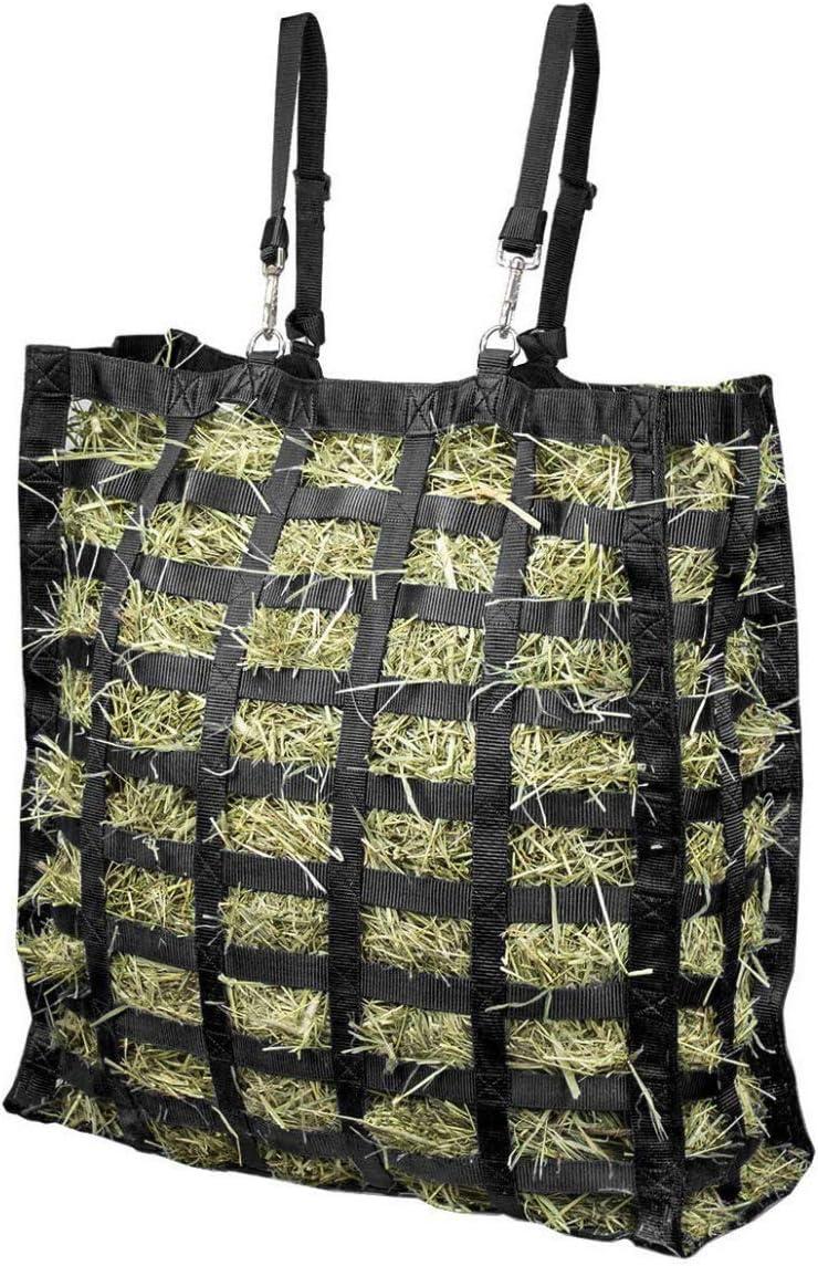 Bolsa de heno colgante saco alimentador, para caballos Pony cabras cerdos vacas, Red de heno colgante suministros de alimentación ecuestre, 63,5 * 56 * 21cm