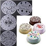 EQLEF® 4 piezas de la torta que adorna la herramienta lados de la plantilla Flores elegantes de la torta Plantillas