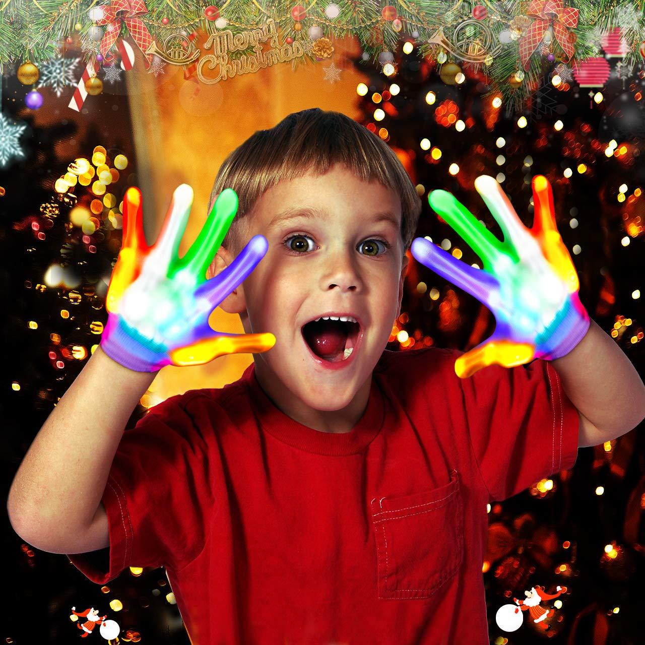 Best Gifts ATOPDREAM LED Flashing Finger Lighting Gloves for Kids