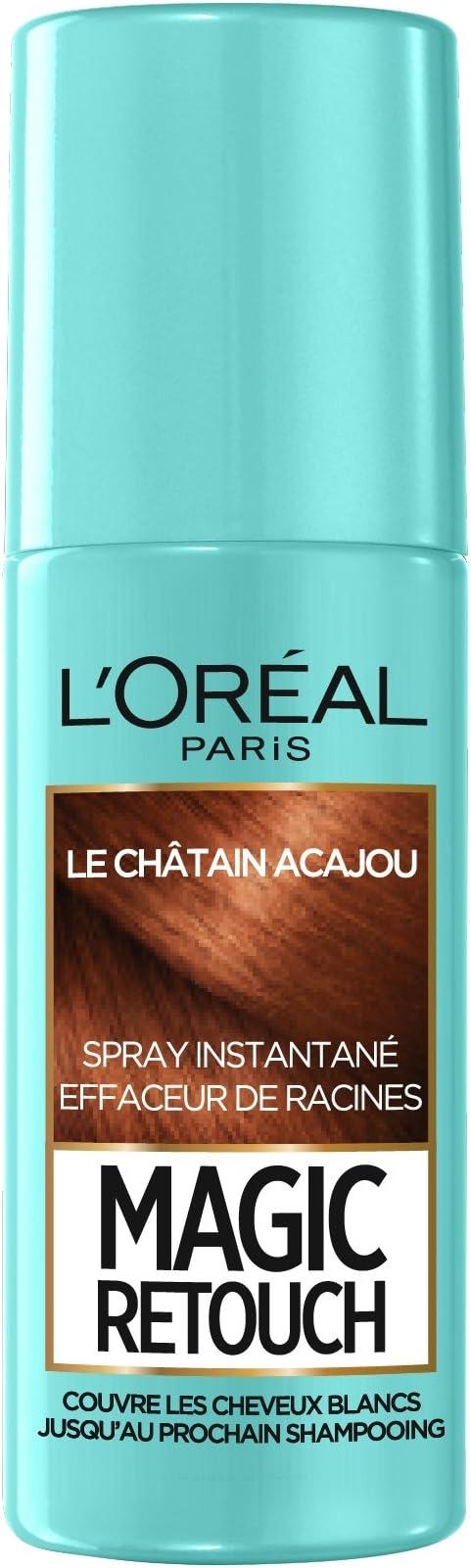 Spray Magic Retouch para retoque de raíz instantáneo, castaño, 75 ml, de L Oréal Paris