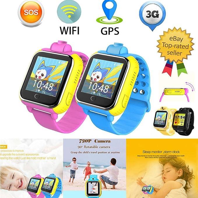 Shinning-Star Smart Watch Kids Montre Connectée pour Enfant Garçons Filles avec Ecran Tactile Smart Téléphone Support SIM GPS Sos Q730 avec Caméra 2.0MP ...