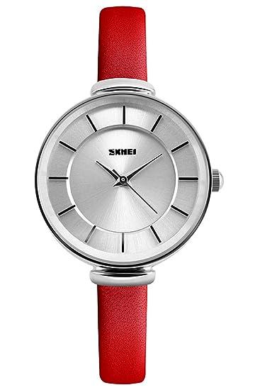 Mujer Reloj De Plata Pulsera de piel (Schöne Alemán Diseño clásico Mujeres Vintage Reloj de