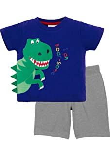 ac05022024e9 Amazon.com  ChicNChic Baby Boys Short Sleeve T-Shirts Shorts Set ...