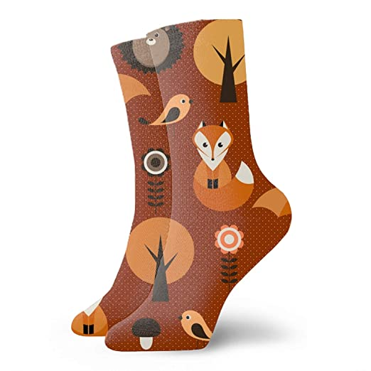 970c7e82c Amazon.com  Womens Winter Soft Warm Thick Autumn Forest Fox Vintage ...