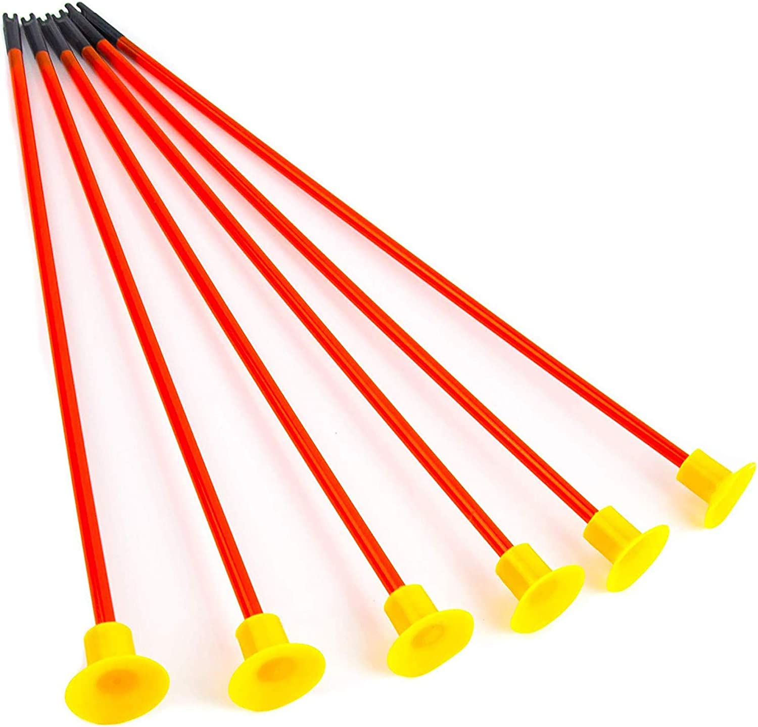Fstop Labs 6 Packs Replacement Suction Cups Arrows for Kids Toy Bow