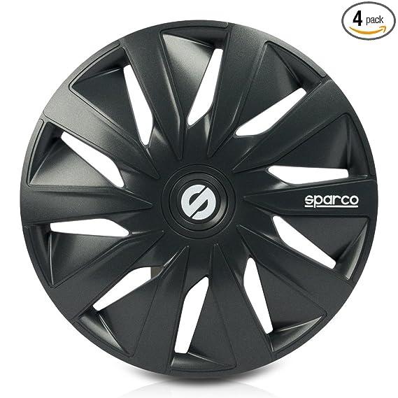Amazon.com: Sparco SPC1590GR Lazio Wheel Covers, Grey, Set of 4, 15