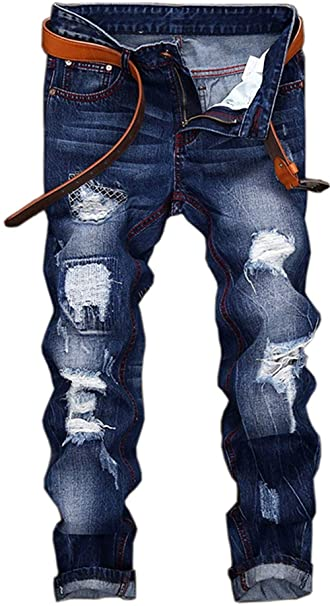 para Pantalones RST Hombre Clásicos Ropa Retro Cher Wear De Stonewash Desgastados ADELINA Agujeros Vaquero De HwxzgTX