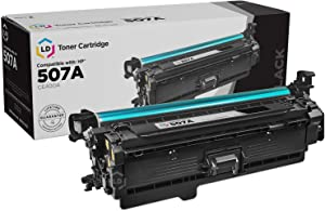 LD Products Remanufactured Toner Cartridge Replacement for HP 507A CE400A (Black)
