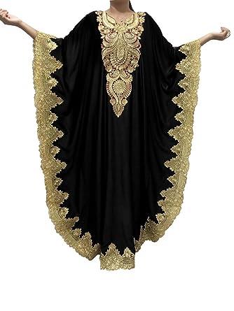 Amazon.com: WUBU Kaftan Maxi Dress Evening Gowns Evening Dresses ...