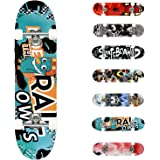 WeSkate Standard Skateboards for Kids 31x7.88 Complete Skateboard for Boys Girls Teens, 7 Layer Canadian Maple Double Kick Co